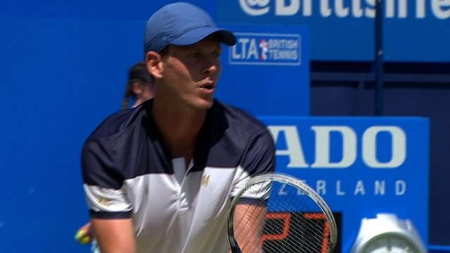 Tomas Berdych serves four aces in a row