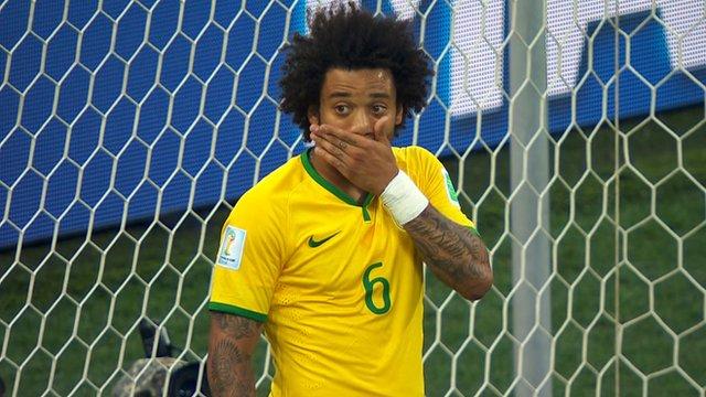 Watch Brazil's Marcelo score an own goal against Croatia