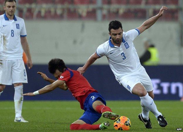 Greece v South Korea pre-World Cup friendly