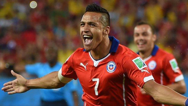 World Cup 2014: Alexis Sanchez scores for Chile