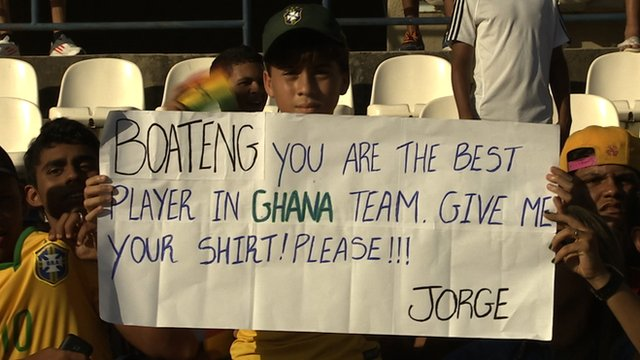 World Cup 2014: Ghana's Kevin Prince-Boateng meets his biggest fan