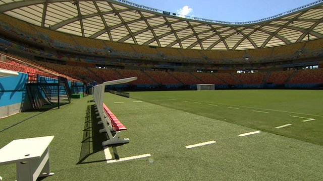 Arena Amazonia pitchside
