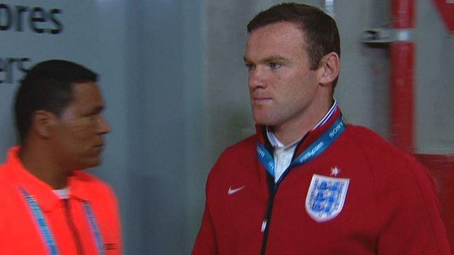 England forward Wayne Rooney arrives