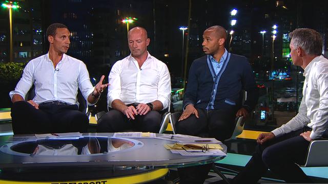 BBC Pundits Rio Ferdinand, Alan Shearer and Thierry Henry