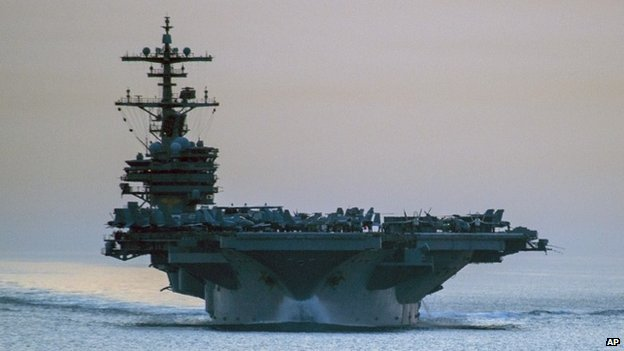 USS George HW Bush in the Strait of Hormuz, April 28, 2014