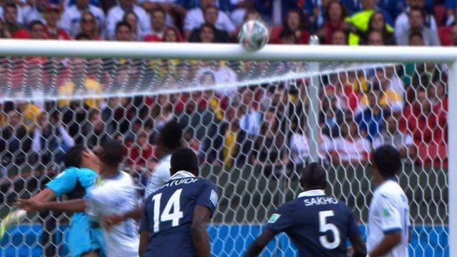 World Cup 2014: Blaise Matuidi hits crossbar