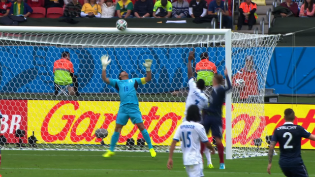 World Cup 2014: France hit bar for second time