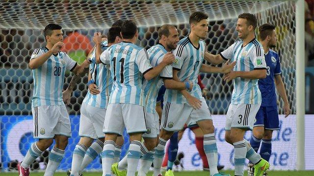 World Cup 2014: Bosnian own goal puts Argentina ahead