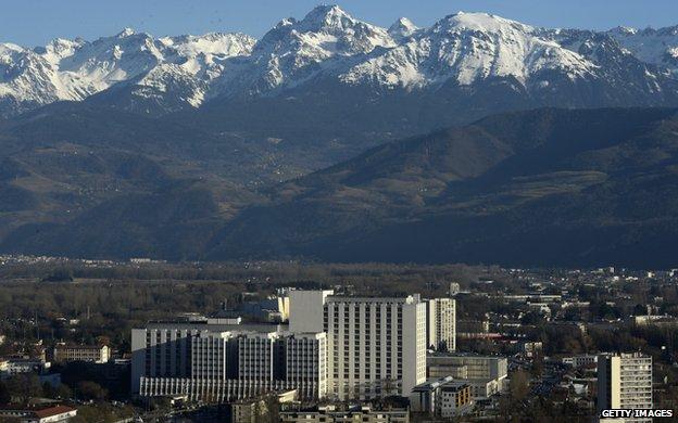 Grenoble's University Hospital Centre seen in January 2014