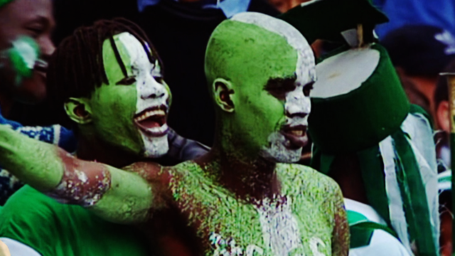 Nigeria fans supporting their team in 1998