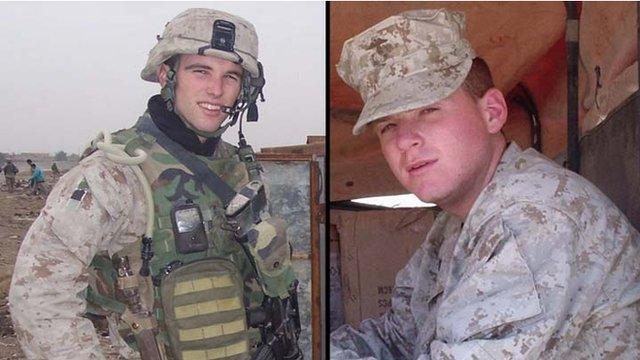 American marines in Iraq circa 2004-2005