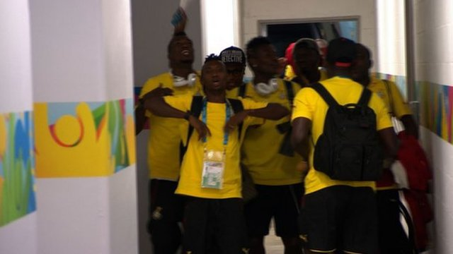 Ghana players before their match against the United States