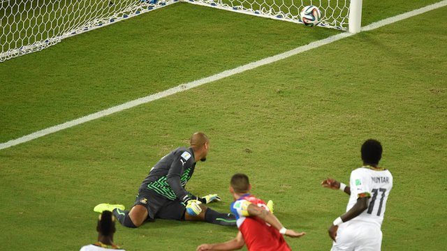 Clint Dempsey scores for the USA against Ghana