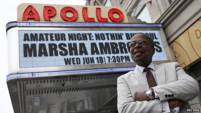 Billy Mitchell outside the Apollo