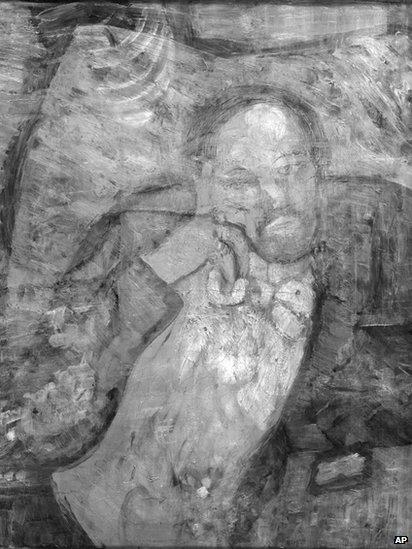 Portrait under The Blue Room
