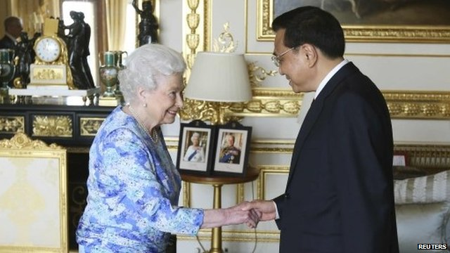 The Queen and Chinese Premier Li Keqiang