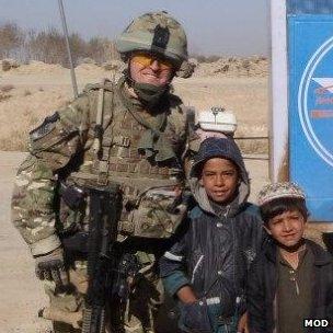 WO2 Paul Jones during an Afghanistan tour