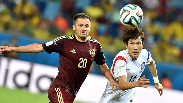 Russia and South Korea do battle in World Cup Group H