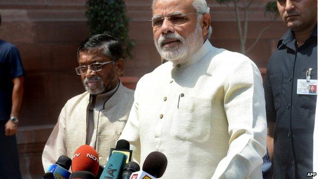 Mr Modi's Bharatiya Janata Party won the general elections with a comfortable majority