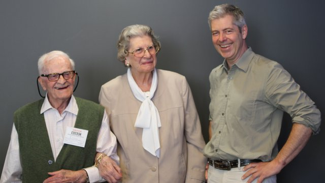 Harry Leslie Smith, Baroness Jean Trumpington and Justin Webb