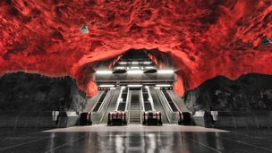 Alexander Dragunov photographs capture Stockholm metro's empty beauty