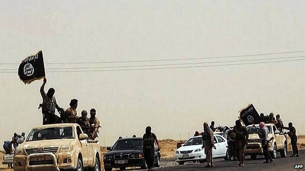 Convoy of ISIS fighters in the Salaheddin province of Iraq. 14 June 2014