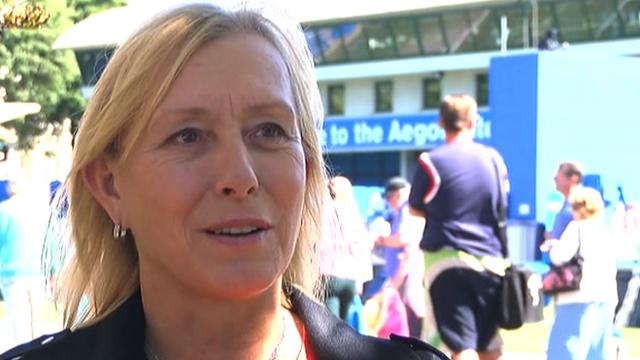 Nine-time Wimbledon singles champion Martina Navratilova