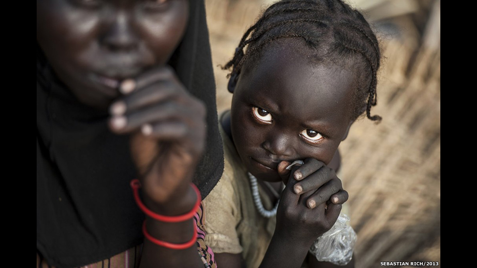 Displaced children in Maban county, South Sudan.