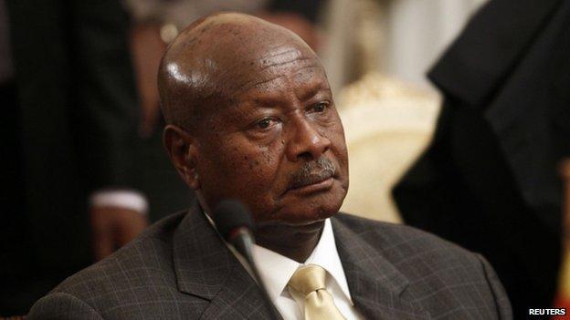 Uganda's President Yoweri Museveni in Addis Ababa, Ethiopia, on 10 June 2014