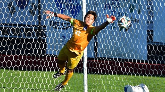 South Korean goalkeeper Jung Sung-Ryong