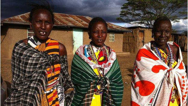 Isaya Ntokot's three wives, Mary, Joyce, and Alice