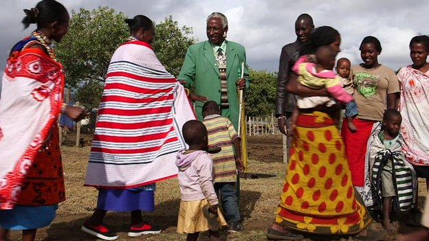 Isaya Ntokot and his family