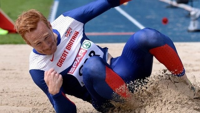 Greg Rutherford had to settle for second place in Germany