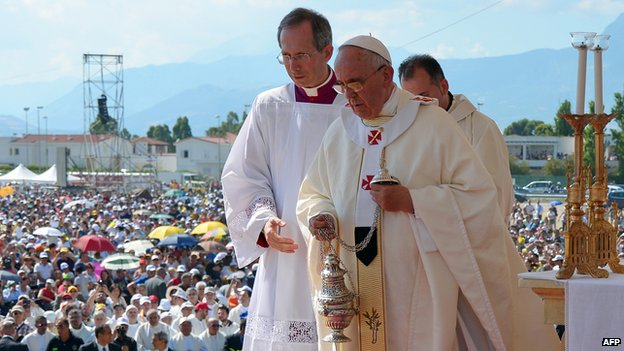 Pope Francis in Calabria
