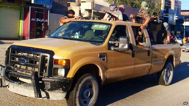 Isis fighters in Falluja on 21 June 2014