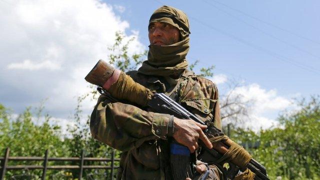 Armed pro-Russian separatist