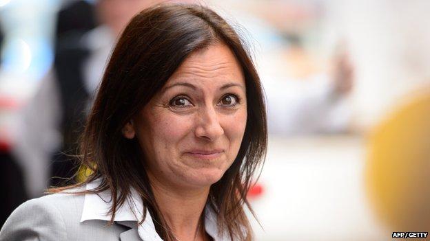 Cheryl Carter leaves the Old Bailey on 24 June 2014