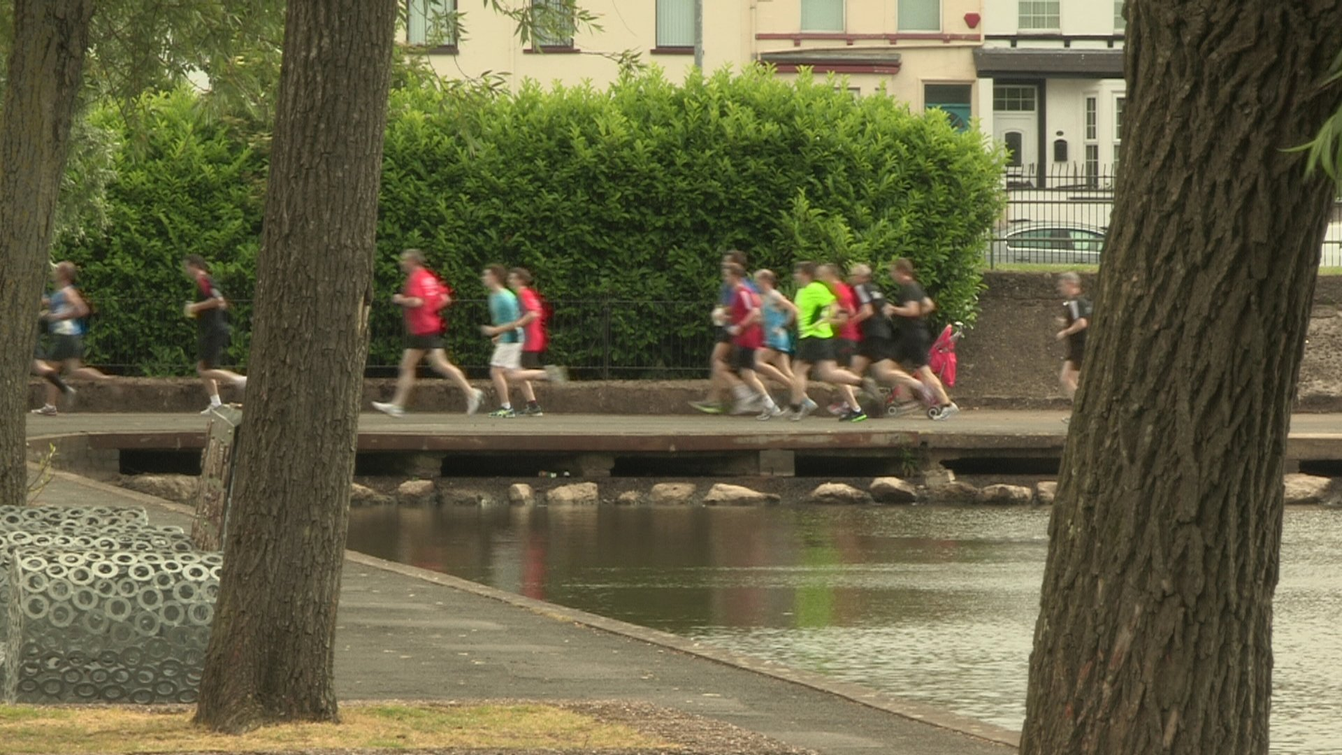 The weekly 5k parkrun at the waterworks in north Belfast