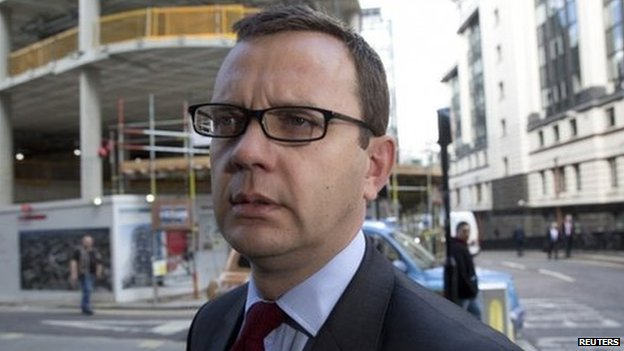 Andy Coulson arriving in court