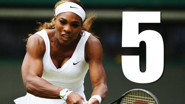 Five of the best points from Serena Williams' third round win over Chanelle Scheepers at Wimbledon