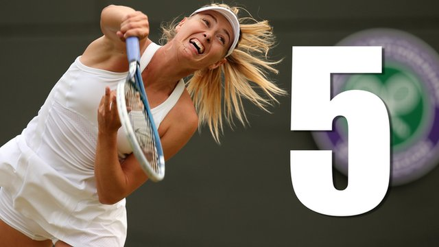 Watch five great points from Maria Sharapova's superb win over Timea Bacsinszky on Court One