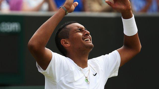 Wimbledon 2014: Nick Kyrgios saves nine match points against Richard Gasquet