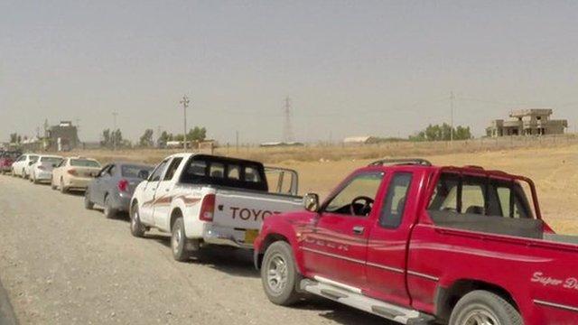 Fuel queue in Irbil
