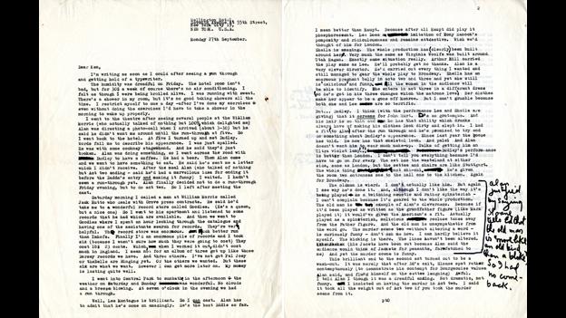 Letter from Joe Orton