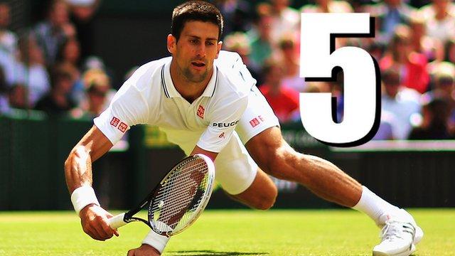 Novak Djokovic beats Gilles Simon at Wimbledon