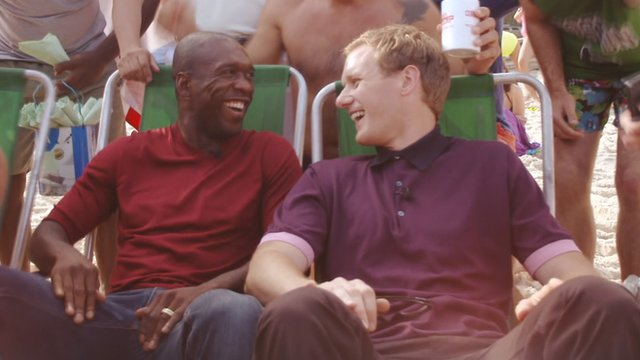 Clarence Seedorf (left) and Dan Walker (right)