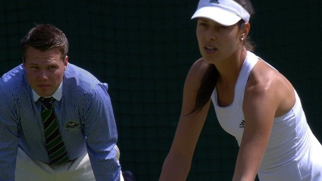 Ana Ivanovic pulls a set back against Sabine Lisicki