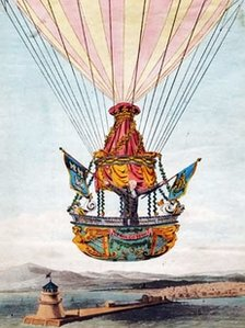 Sadler in his balloon in Dublin on 1 October 1812