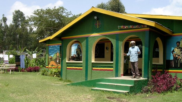 Brother Vincent Wisdom at his house in Shashamane