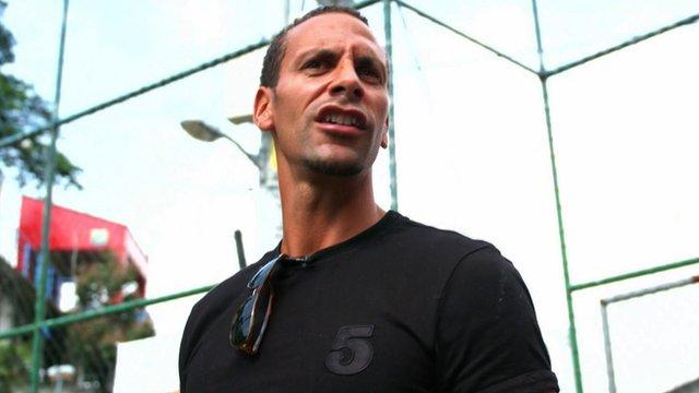 Rio Ferdinand spent some time at Santa Marta favela